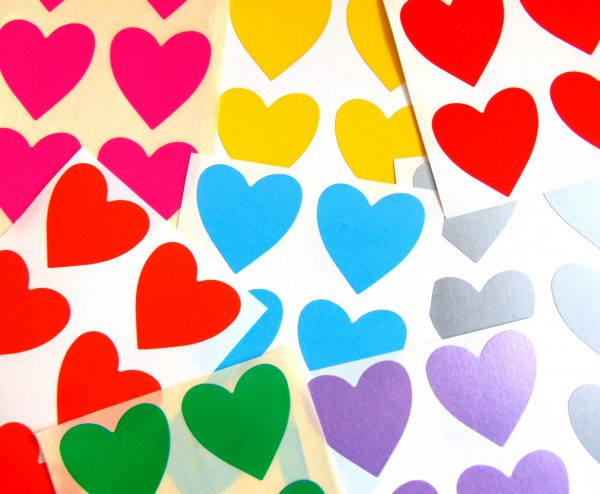 Colour Code hearts