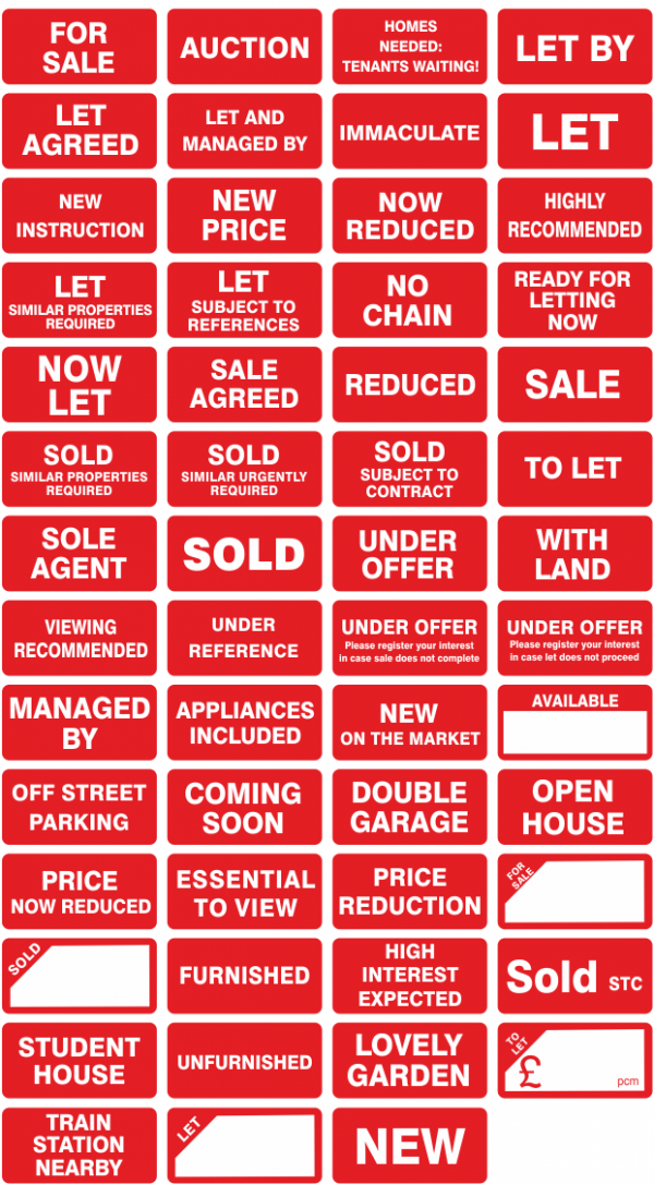 Property Sales Stickers - Minilabels