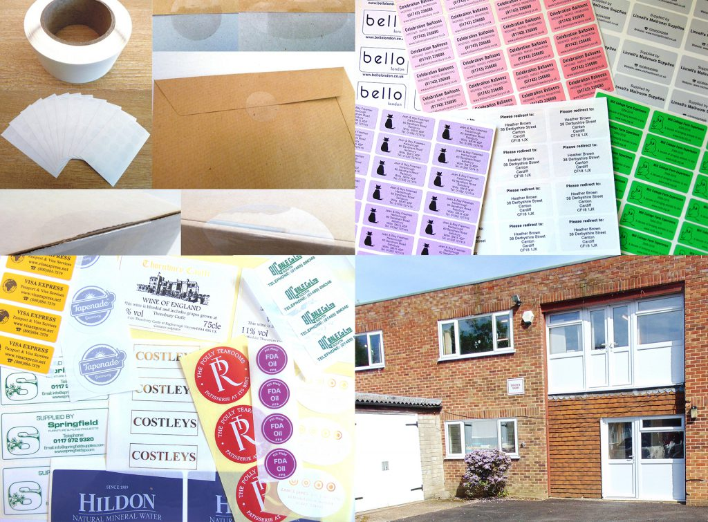 Colour, custom and numbered stickers and labels